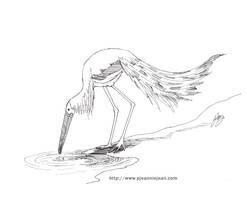 Creature design - Storkish Thing by JeannieHarmon