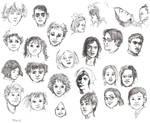 Faces C by JeannieHarmon