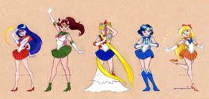Sailor Senshi by JeannieHarmon