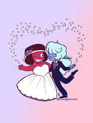 Ruby + Sapphire by JeannieHarmon