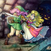 princess rescues princess by gerbilfat