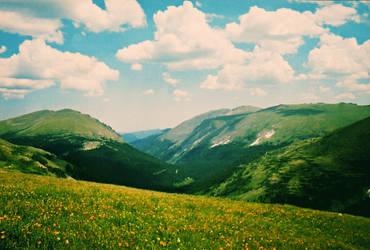 Summer Mountains II by JupiterLily