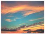 Watercolor Sky by JupiterLily
