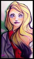 Harleen Quinzel. (coloured) by MrDumpty