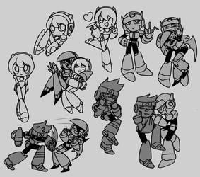 ALL THESE Megaman X OCS