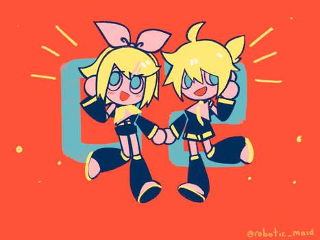 Yellow singing duo