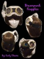 Steampunk Goggles by ladythesta