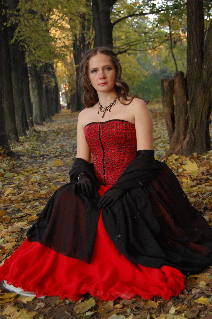 Medieval Lady in Park by OOOri