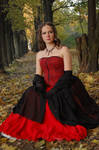 Medieval Lady in Park