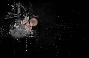 Dark Flowers PreMade Background by VaLeNtInE-DeViAnT