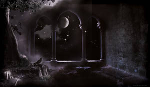 MAGIC WINDOW PREMADE BG..HALLOWEEN COLLECTION