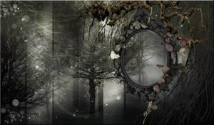 GREY FOREST PREMADE BACKGROUND by VaLeNtInE-DeViAnT