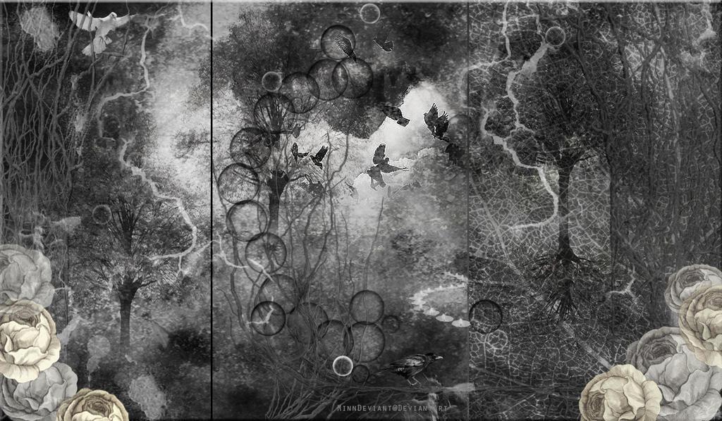 DEEP DARK FOREST PREMADE BACKGROUND by VaLeNtInE-DeViAnT