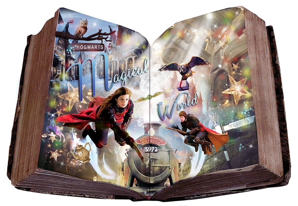 Hogwarts Magical World  Book Blend by VaL-DeViAnT