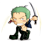 Chibi Zoro::One Piece by a3107