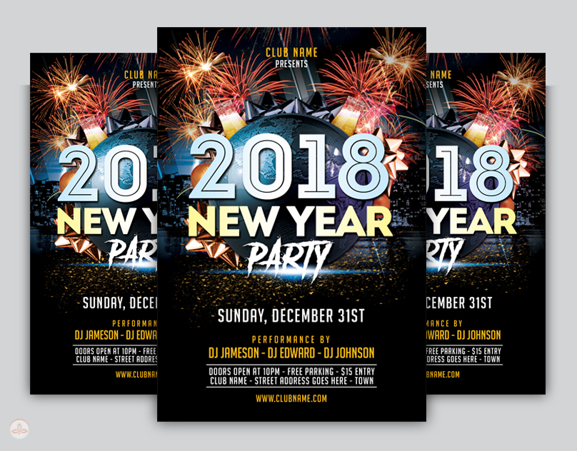 New Year Flyer Template By Nsdesigns On Deviantart