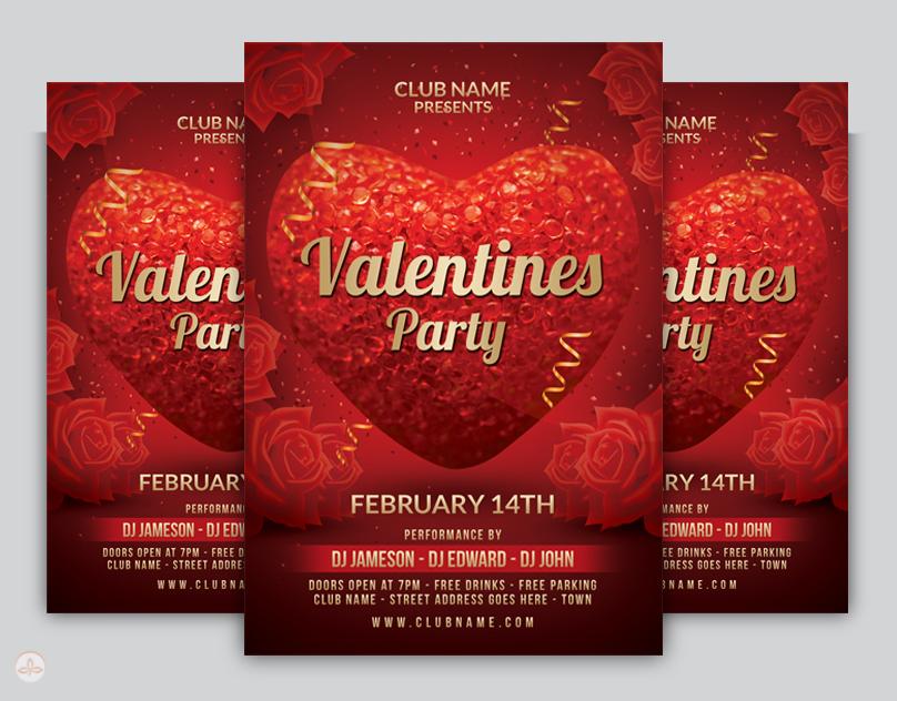 Valentine Flyer Template By Nsdesigns89 On Deviantart