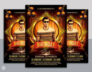 Birthday Flyer Template by nsdesigns89