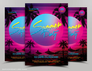 Summer Flyer Template by nsdesigns89