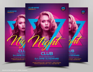 Night Club Flyer Templates by nsdesigns89