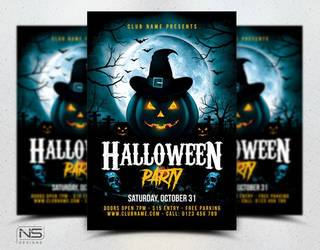 Halloween Flyer Template by nsdesigns89