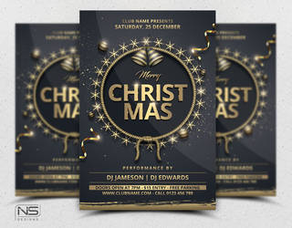 Christmas Flyer Template by nsdesigns89