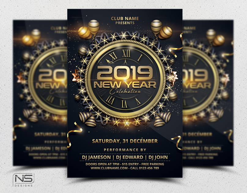 New Year Flyer by nsdesigns89