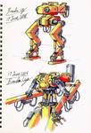 Sci-fi Hydraulic design-5 (Mecha)