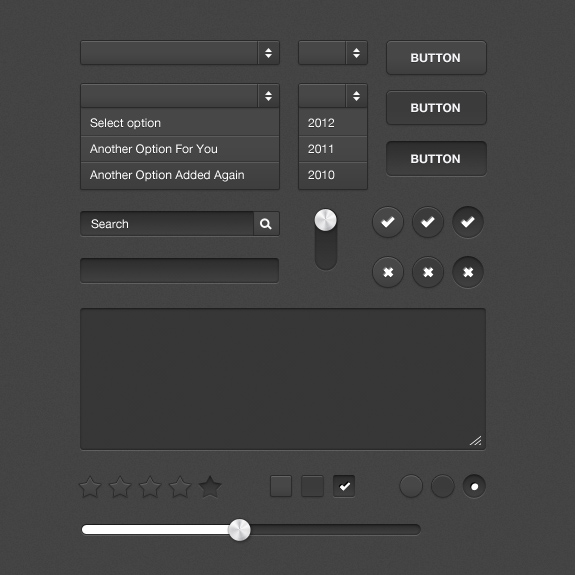 Dark Form UI Kit Free Download by bestpsdfreebies