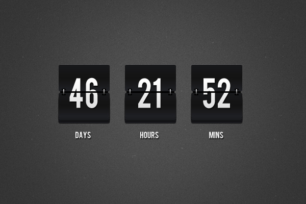 Flip Clock Countdown Free download by bestpsdfreebies