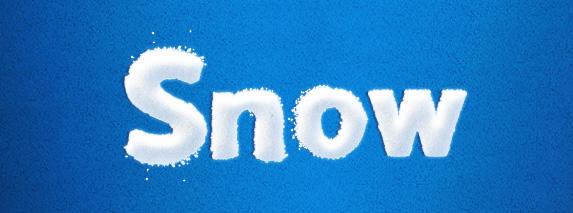 Snow Text Effect Freebie