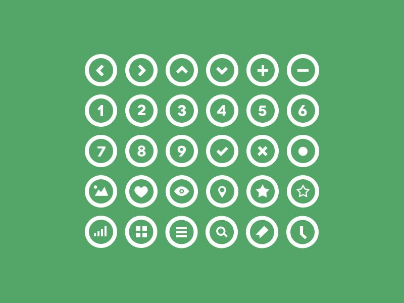 36 Circle Icons Freebie by bestpsdfreebies