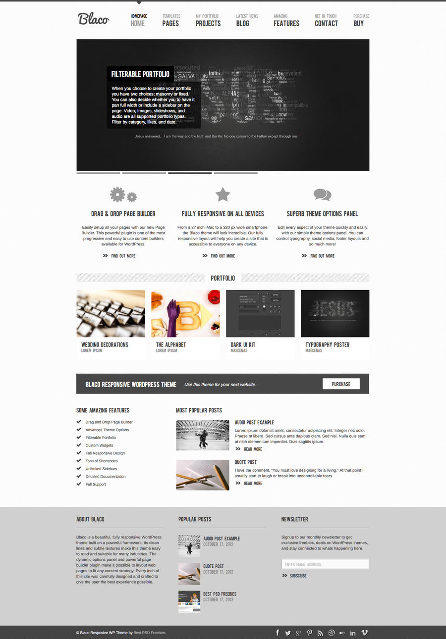 Blaco Responsive WordPress Theme by bestpsdfreebies