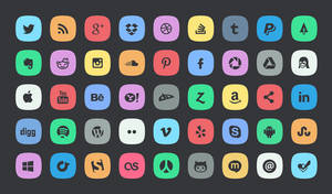 45 Subtle Social Media Icons by bestpsdfreebies