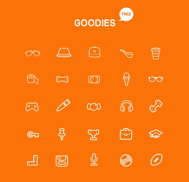Goodies Icon Set by bestpsdfreebies