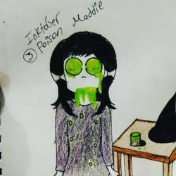 Inktober #3 Poison by TheWeirdMaddie