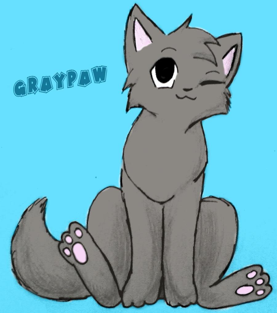 Graypaw by leftysmudgezSsswarriorcats Graypaw