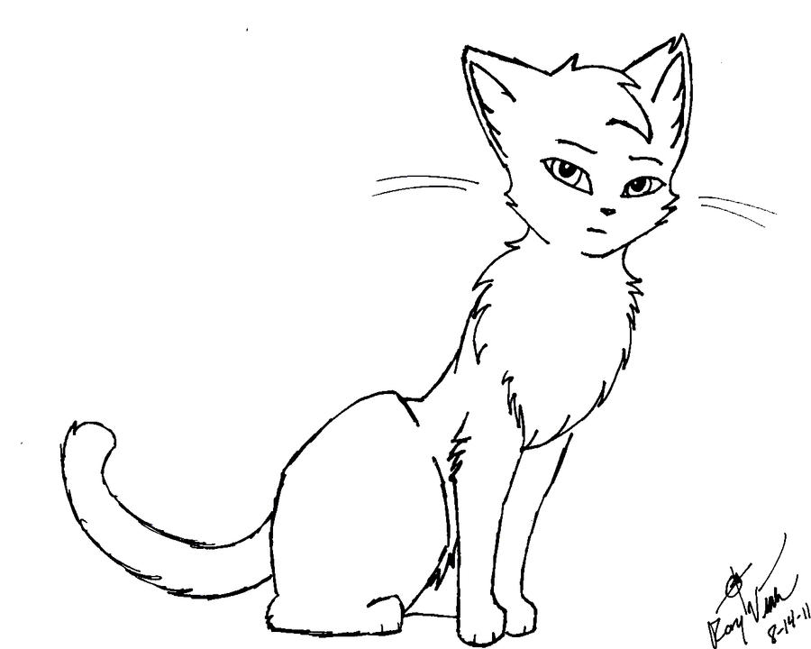 how to draw a warrior cat kit