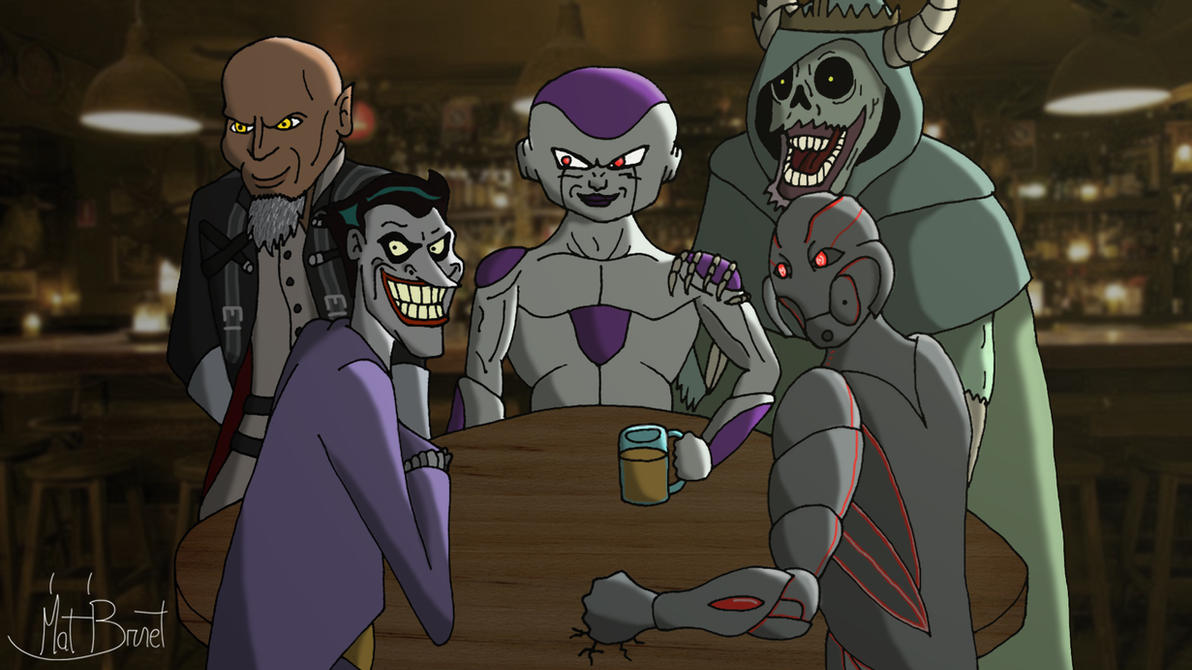 5 Villains Walked into a Bar... by AniMat505