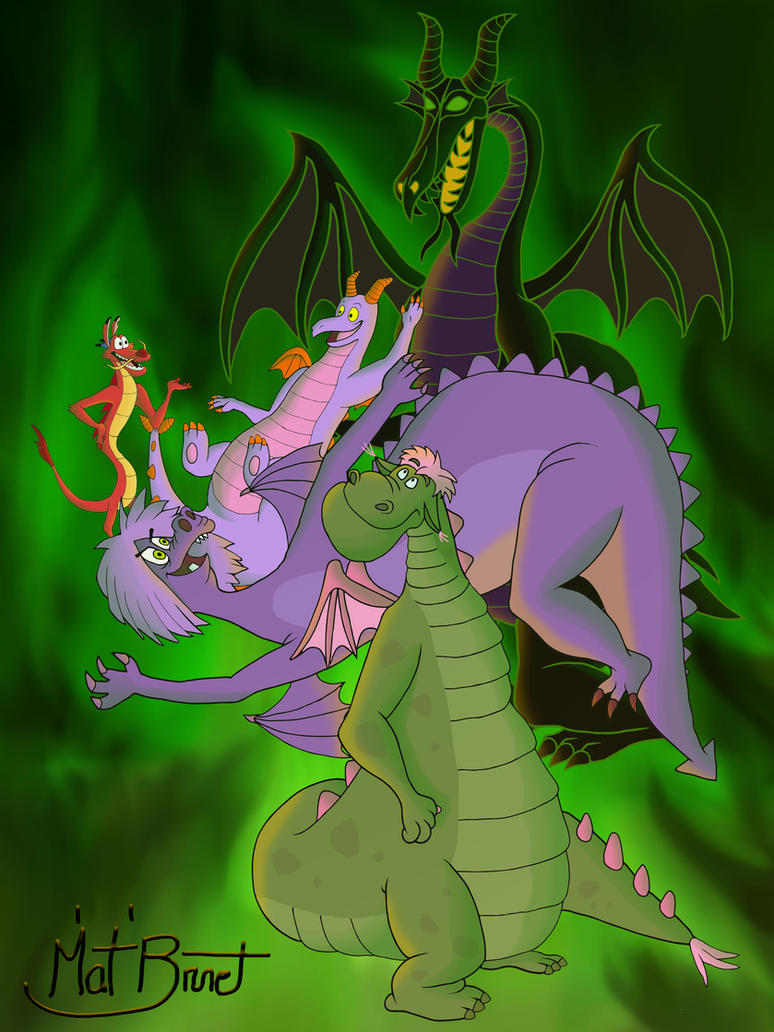 The Disney Dragons by AniMat505