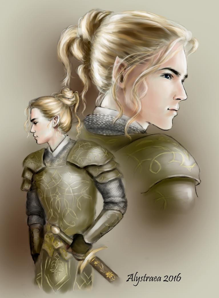 Glorfindel With Battle Hair by alystraea