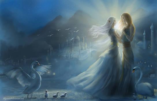 Alqualonde - Earwen and Finarfin