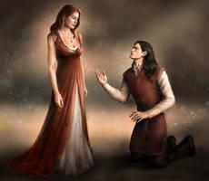 Feanor asking for Nerdanel's forgiveness