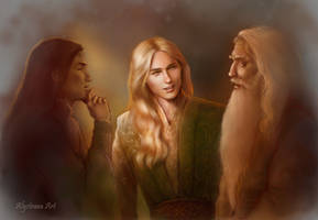 Glorfindel with Elrond and Gandalf