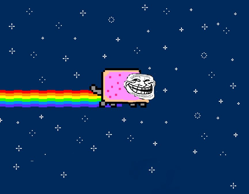 Nyan Cat Troll Face Gif Troll Faced Nyan Cat by