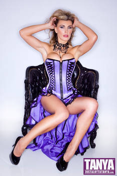 Tanya Tate In Purple Basque by Josh Ryan