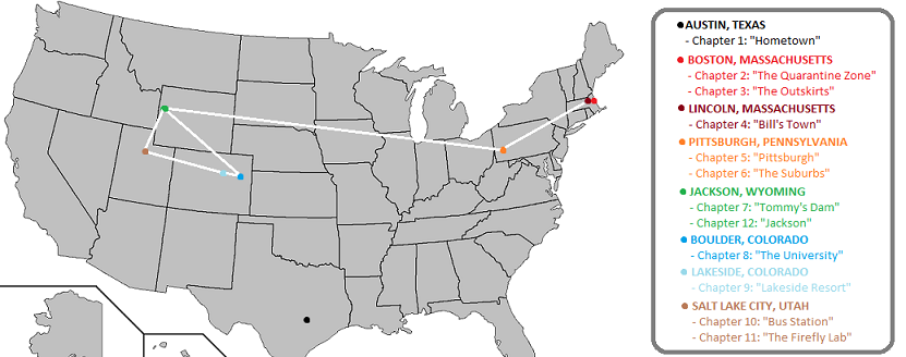 The Last of Us Journey Map by darkjamesdean on DeviantArt