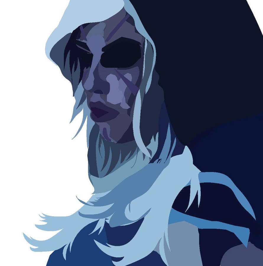 Drow Ranger- graphic vector art by mrhmit