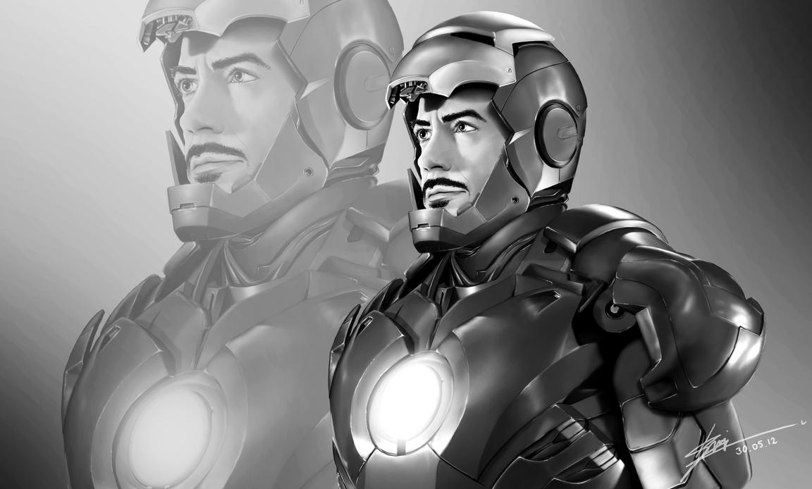 Digital Portrait - Robert Downey Jr. as Tony Stark by IzaSpringintveld