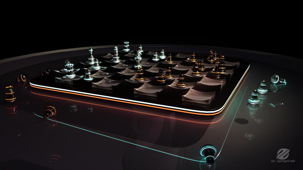 futuristic chess set 1 by izaspringintveld on deviantart